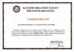 Kayseri-OSB-tesekkur